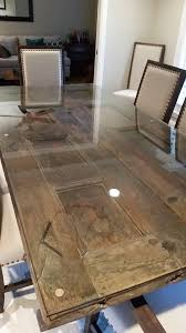 glass top to protect wood table protect the gorgeous wood table or in this case door with a 1 4