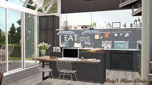 sims 3 modern kitchen sims3 monochrome 單色調 ruby u0027s home design