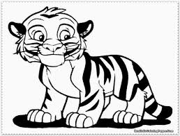 tiger picture color coloring free coloring pages