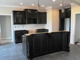 Antique Black Kitchen Cabinets Cabinet Kitchen Distressed Black Livingurbanscape Org