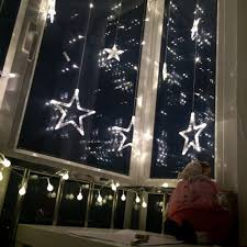 solsolar outdoor indoor 220v colorful stars curtain led string