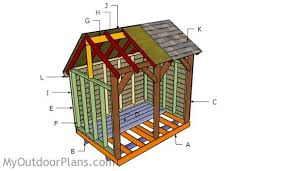 saltbox firewood shed plans myoutdoorplans free woodworking