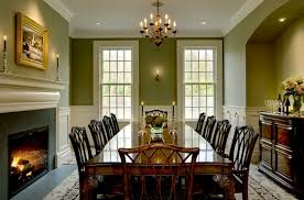 modern concept colorful dining room with white trim with