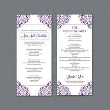 best wedding programs best wedding ceremony program templates products on wanelo