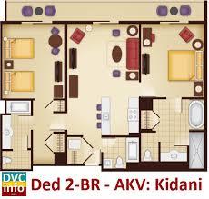 animal kingdom 2 bedroom villa floor plan disney s animal kingdom villas dvcinfo