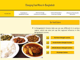 cuisine chagne food menu in bangladesh