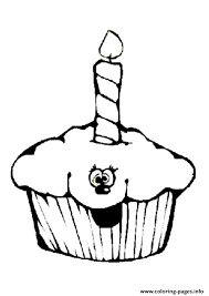 cupcake coloring pages to print smiley cupcake coloring pages printable