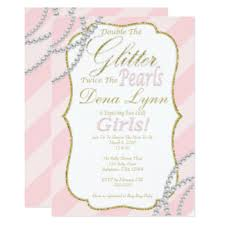baby shower invites for girl baby shower invitations announcements on glitter baby shower