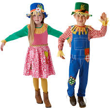 scarecrow halloween costume mr or mrs scarecrow kids fancy dress wizard oz book day week