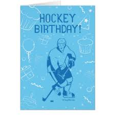 hockey birthday cards greeting u0026 photo cards zazzle
