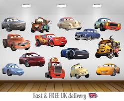 cartoon character childrens wall decals stickers ebay cars 3 kids bedroom vinyl decal wall art sticker 14 character selection