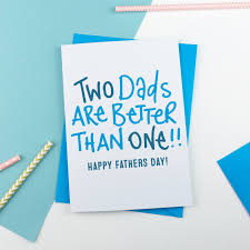 cards for fathers day cards for two dads lucky you you ve got two dads