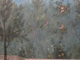 paradise regained the painted garden of livia at palazzo massimo detail triclinium of livia
