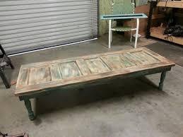 vintage wood coffee table beautiful used coffee tables on old wood door coffee table for the