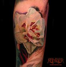 dark age tattoo studio tattoos flower rose white flower