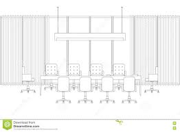 Conference Room Floor Plan Meeting Room Line Interior Stock Vector Image 80318639