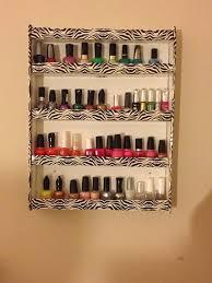 diy nail polish holder i used drawer organizers nails