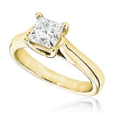 gold 1 carat engagement rings 1 carat princess cut solitaire engagement ring 14k white gold