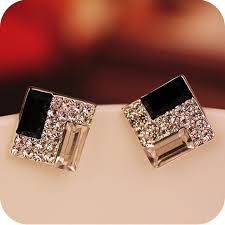 stud for ear square ear stud earrings for woman online shopping site