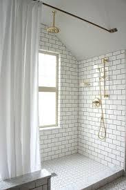 Open Showers Best 25 Brick Tile Shower Ideas Only On Pinterest Tile Floor