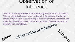 observation vs inference powerpoint for science by stacie keitt