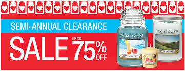 yankee candle semi annual clearance sale up to 75 select