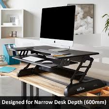 sit stand desk converter workstation solution