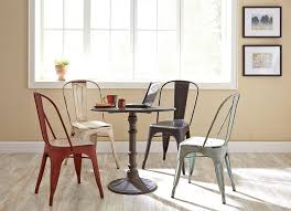 traditional dining set with different color options for chairs