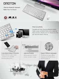 amazon com omoton ultra slim bluetooth keyboard for apple ipad bluetooth edition bluetooth 3 0 dimensions 285 x 120 x 6 mm 11 2 x 4 7 x 0 2 inch buttons 78 keys including 13 ipad hot keys weight 282g 9 95 oz
