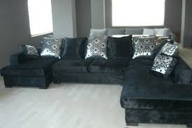 Grey Velvet Sectional Sofa Home Excellent The Modern Grey Velvet Sectional Sofa Household