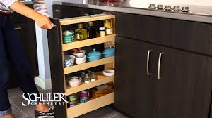Kitchen Cabinet Spice Rack Slide by Schuler Cabinetry Pull Out Spice Rack Youtube