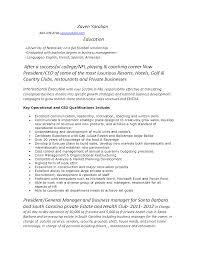 Bachelor Degree Resume Sports Resume Template
