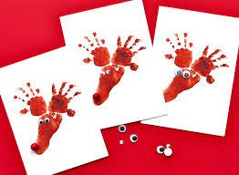 hand u0026 footprint reindeer cards
