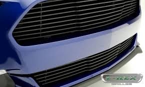 Flat Black Mustang Gt T Rex Ford Mustang Gt Laser Billet Grille Bumper Overlay With