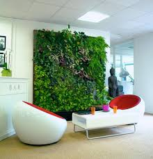 indoor green wall with exclusive plant and flower design feat