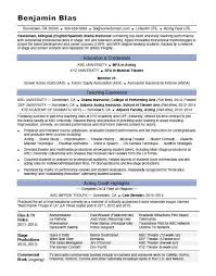actor resume template acting resume sle