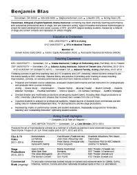 acting resume exle acting resume sle