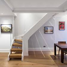 space saving stairs staircase contemporary with basement