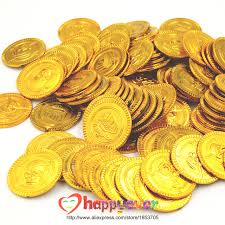 pirate party supplies 100pcs plastic gold treasure coins captain pirate party favors