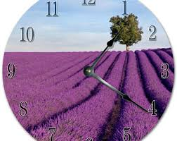 Lavender Home Decor Lavender Wall Clock Etsy