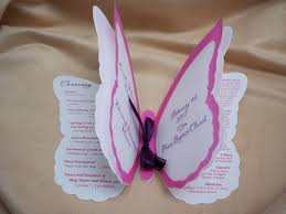 make your own wedding program wedding invited butterfly shaped just for me
