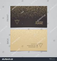 elegant template luxury business card gold stock vector 337197611