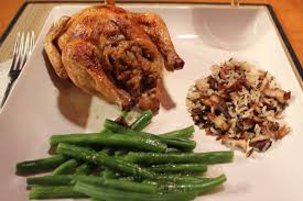 cornish hens stuffed two ways part one rice and