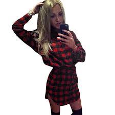 plaid shirt dress womens t shirts design concept