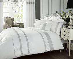 white king duvet cover set diamante bed linen bedding wow