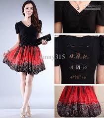 spring summer women short sleeve elastic knit floral print dress