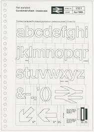 national loon 1964 yearbook test sketch for road sign system by kinneir and