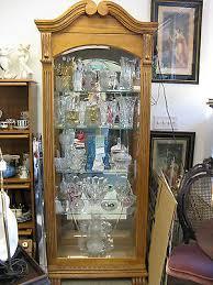 lighted curio cabinet oak beautiful oak wood glass light curio cabinet with sliding door claw