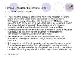 ideas collection character reference letter good mother template