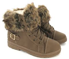 womens fur boots size 9 faux fur grip sole womens winter warm ankle boots trainers